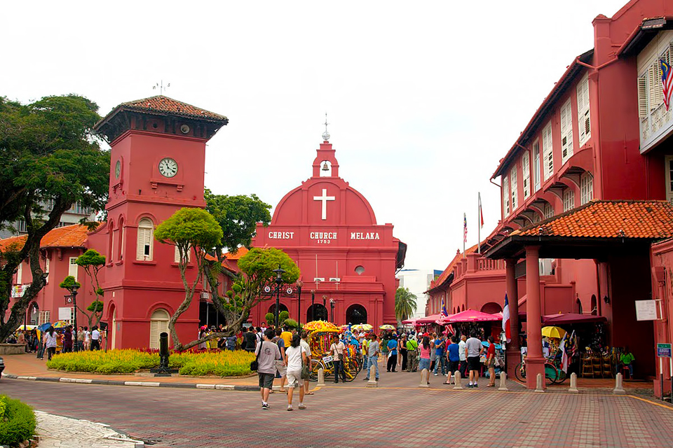 Traditional Malaysia - Dutch Christian influence clearly visible in Malacca